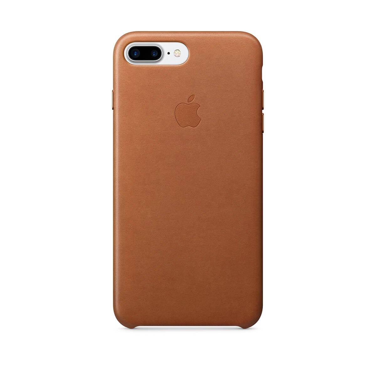 Apple kožený kryt na iPhone 7 Plus – sedlově hnědý