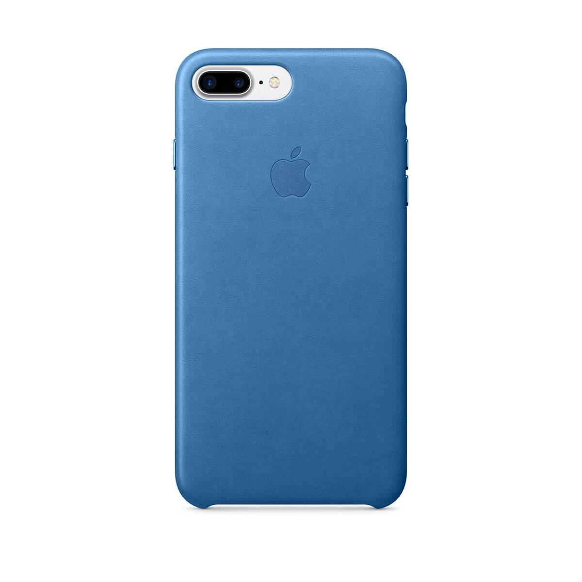 Apple kožený kryt na iPhone 7 Plus – jezerně modrý