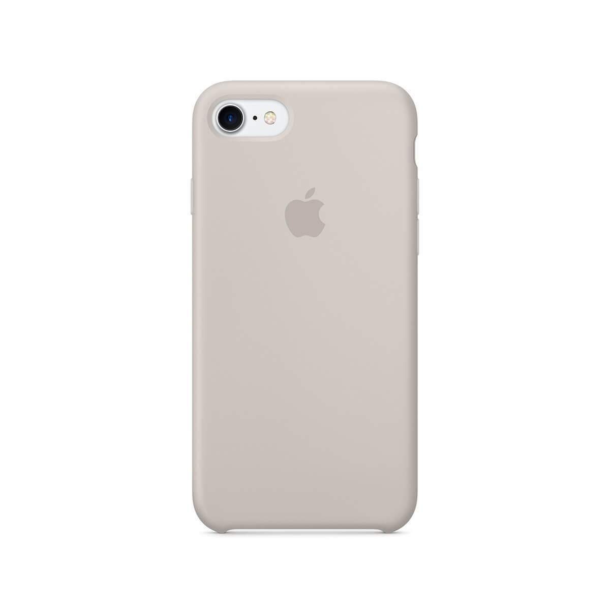 Apple silikonový kryt na iPhone 7 – kamenně šedý