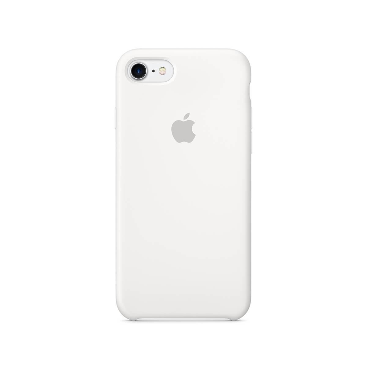 Apple silikonový kryt na iPhone 7 – bílý