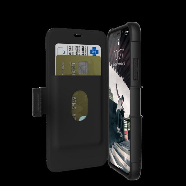 UAG Metropolis, pouzdro ve tvaru knížky pro iPhone X - černé
