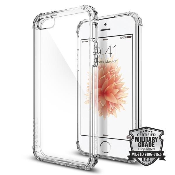 Kryt na iPhone SE / 5s / 5 Spigen Crystal Shell - průhledný