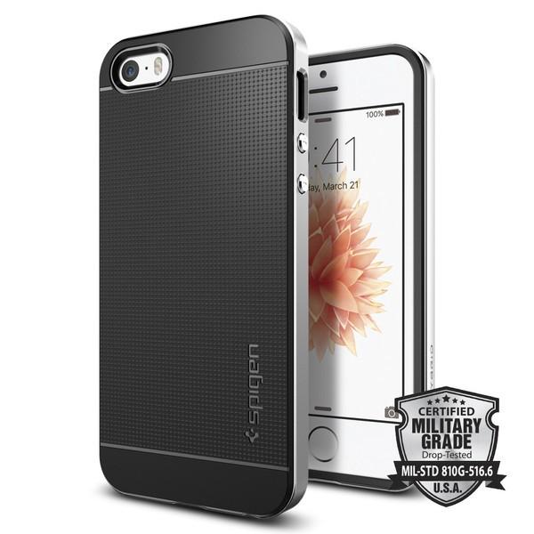 Spigen Neo Hybrid - tenký kryt pro iPhone SE / 5s / 5 - stříbrný
