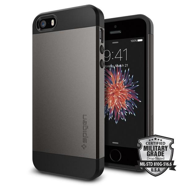 Spigen Slim Armor, černý tenký kryt pro iPhone 5s / SE