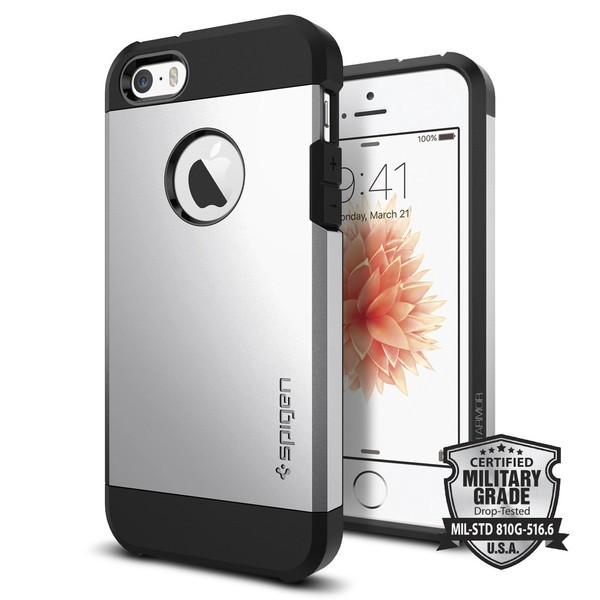 Kryt na iPhone SE / 5s / 5 Spigen Tough Armor - stříbrný