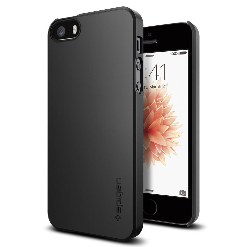 Spigen Thin Fit - ultra tenký kryt pro iPhone SE / 5s / 5 - černý