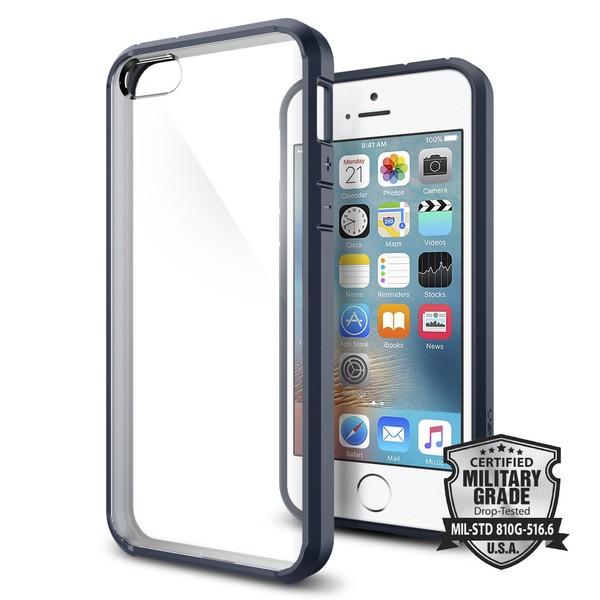 Spigen ultra tenký kryt pro iPhone SE / 5s / 5 - šedý