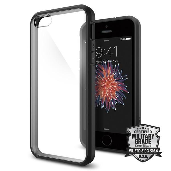 Spigen Ultra Hybrid, tenký kryt pro iPhone 5s / SE - černý