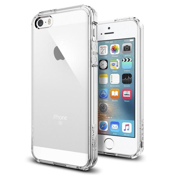Spigen Ultra Hybrid - ochranný kryt pro iPhone SE / 5s / 5 - čirý