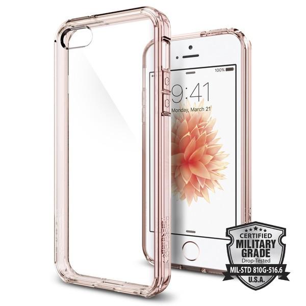 Kryt na iPhone SE / 5s / 5 Spigen Ultra Hybrid - růžový