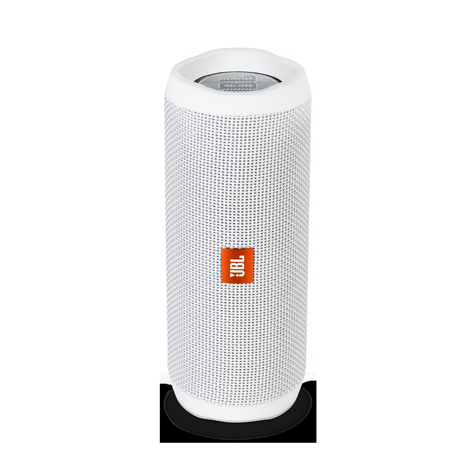 JBL Flip 4, přenosný voděodolný Bluetooth reproduktor - bílý