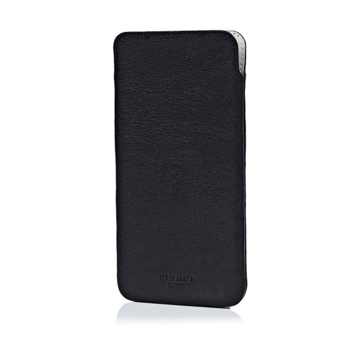 Knomo Leather Slim, kožené pouzdro pro iPhone 6 Plus - černé