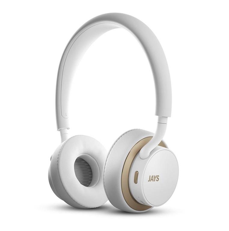u-JAYS bílo zlatá bezdrátová sluchátka