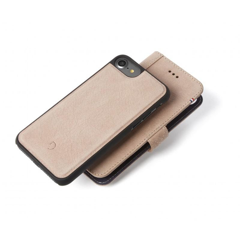 Decoded kožené pouzdro 2 v 1 - typ kniha, iPhone 7 - růžové