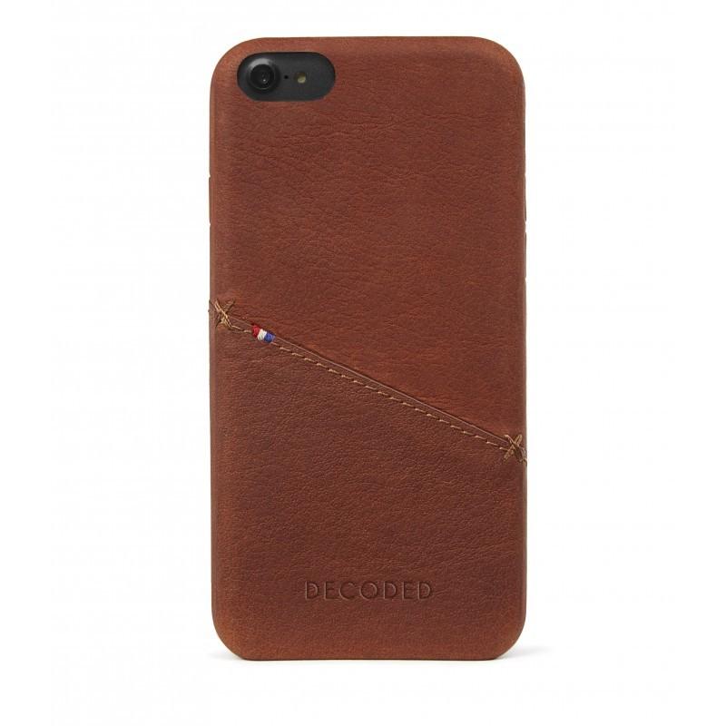 Decoded zadní kožený kryt pro iPhone 7 - hnědý