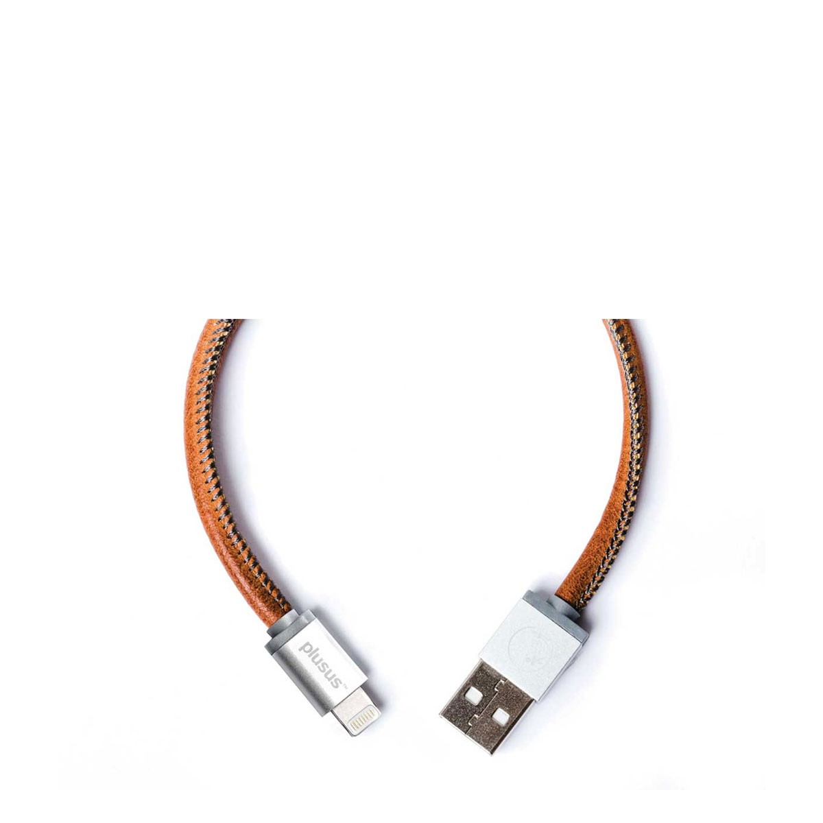 PlusUs LifeStar Handcrafted USB Charge & Sync cable (25cm) Lightning - Brown / Grey