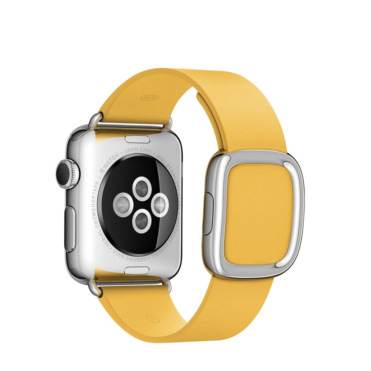 Apple 38mm měsíčkově žlutý řemínek s moderní přezkou - střední