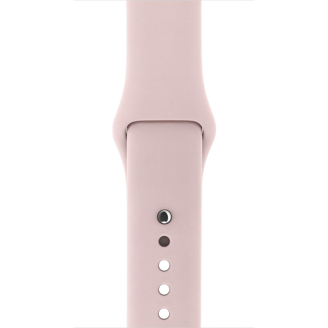 Apple 38mm pískově růžový sportovní řemínek – S/M a M/L