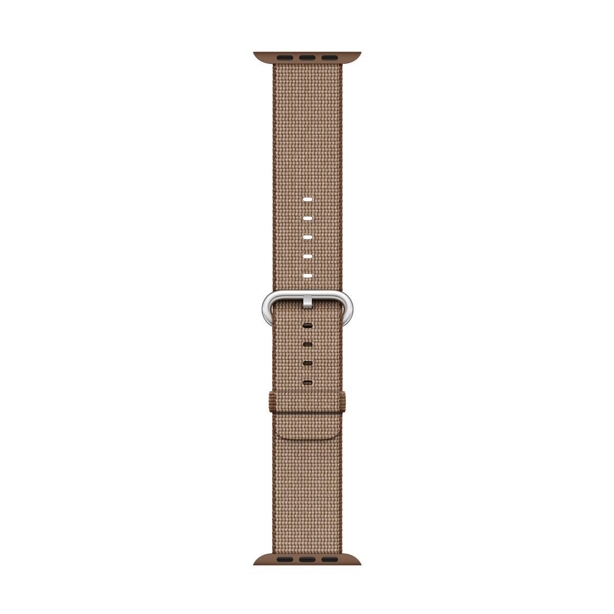 Apple - 38mm kávově/karamelově hnědý řemínek z tkaného nylonu
