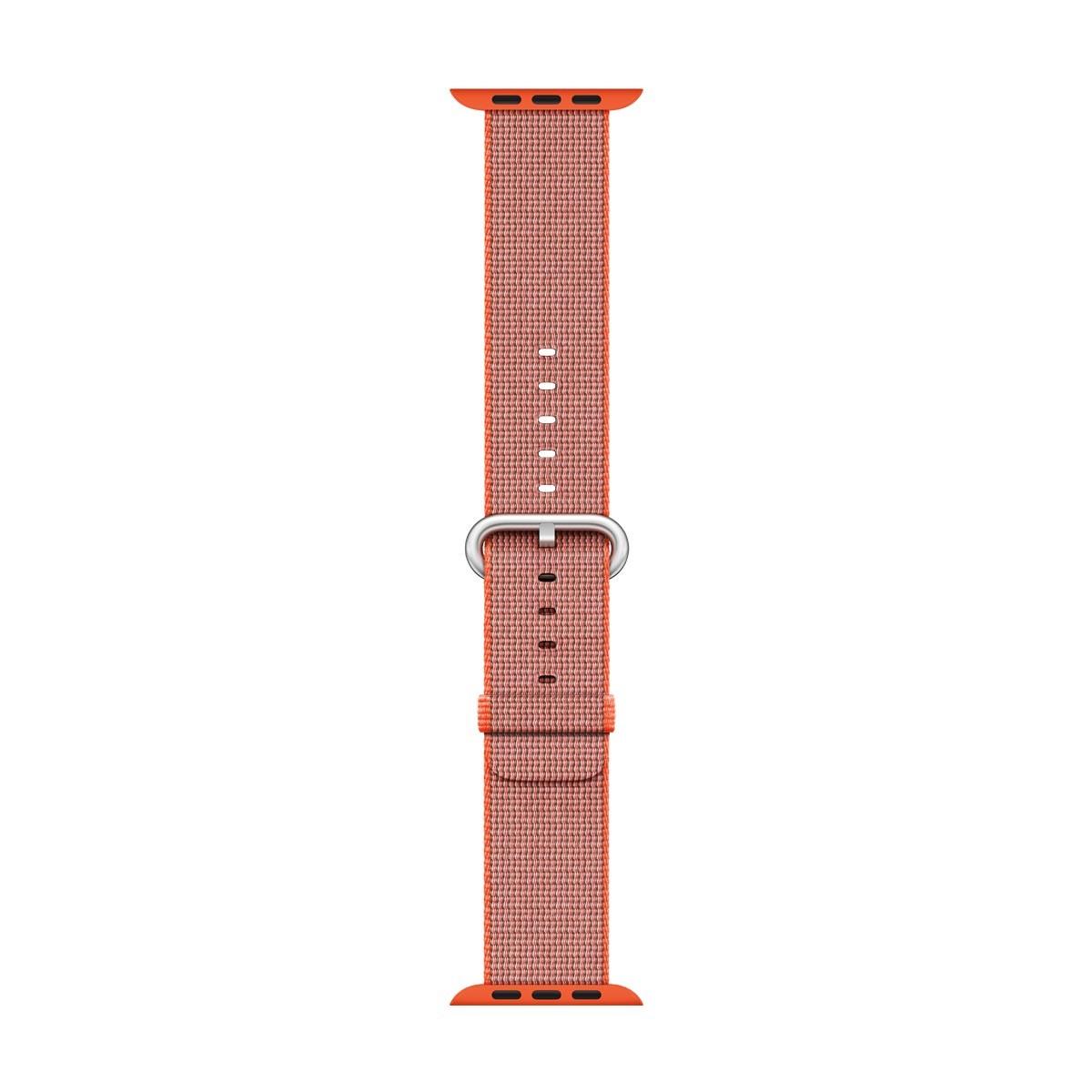 Apple - 42mm vesmírně oranžový / antracitově šedý řemínek z tkaného nylonu