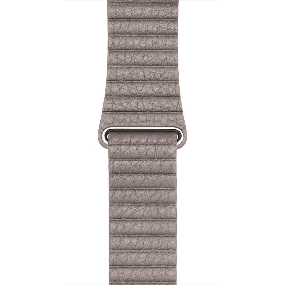 Apple 42mm kouřově šedý kožený řemínek – velký