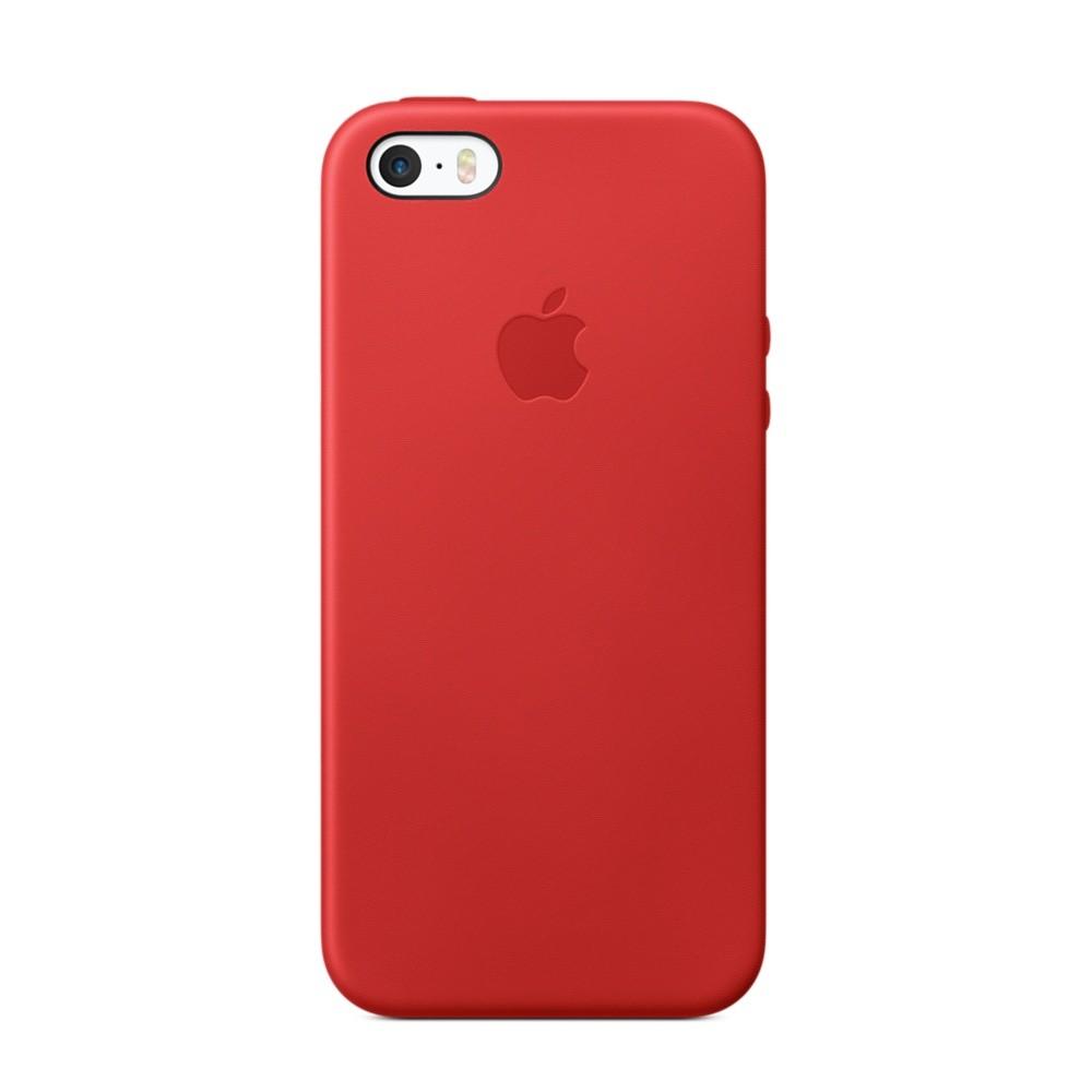 Kožený kryt na iPhone SE - (PRODUCT)RED