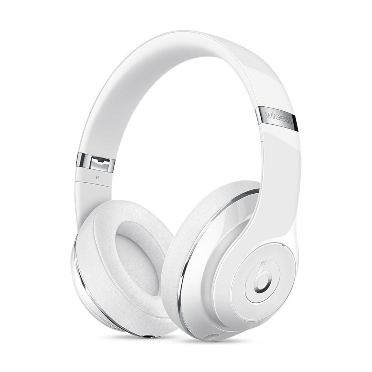Bezdrátová sluchátka přes uši Beats by Dr. Dre Studio -  leskle bílá