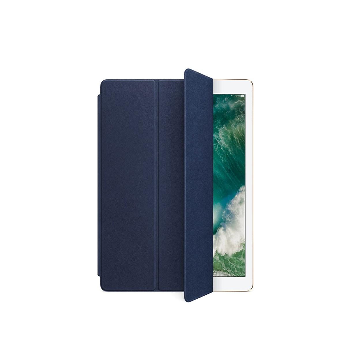 Kožený Smart Cover na 12,9palcový iPad Pro - půlnočně modrý