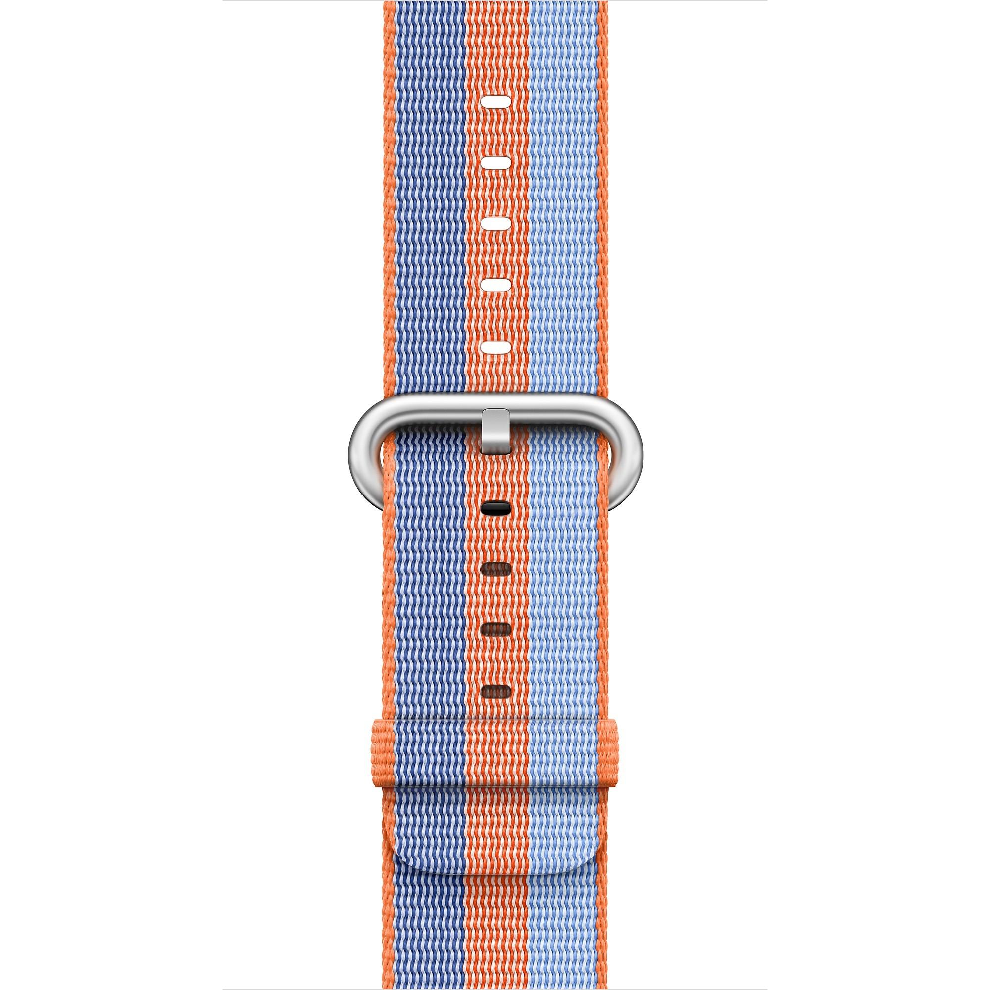 Apple - 42mm oranžový řemínek z tkaného nylonu