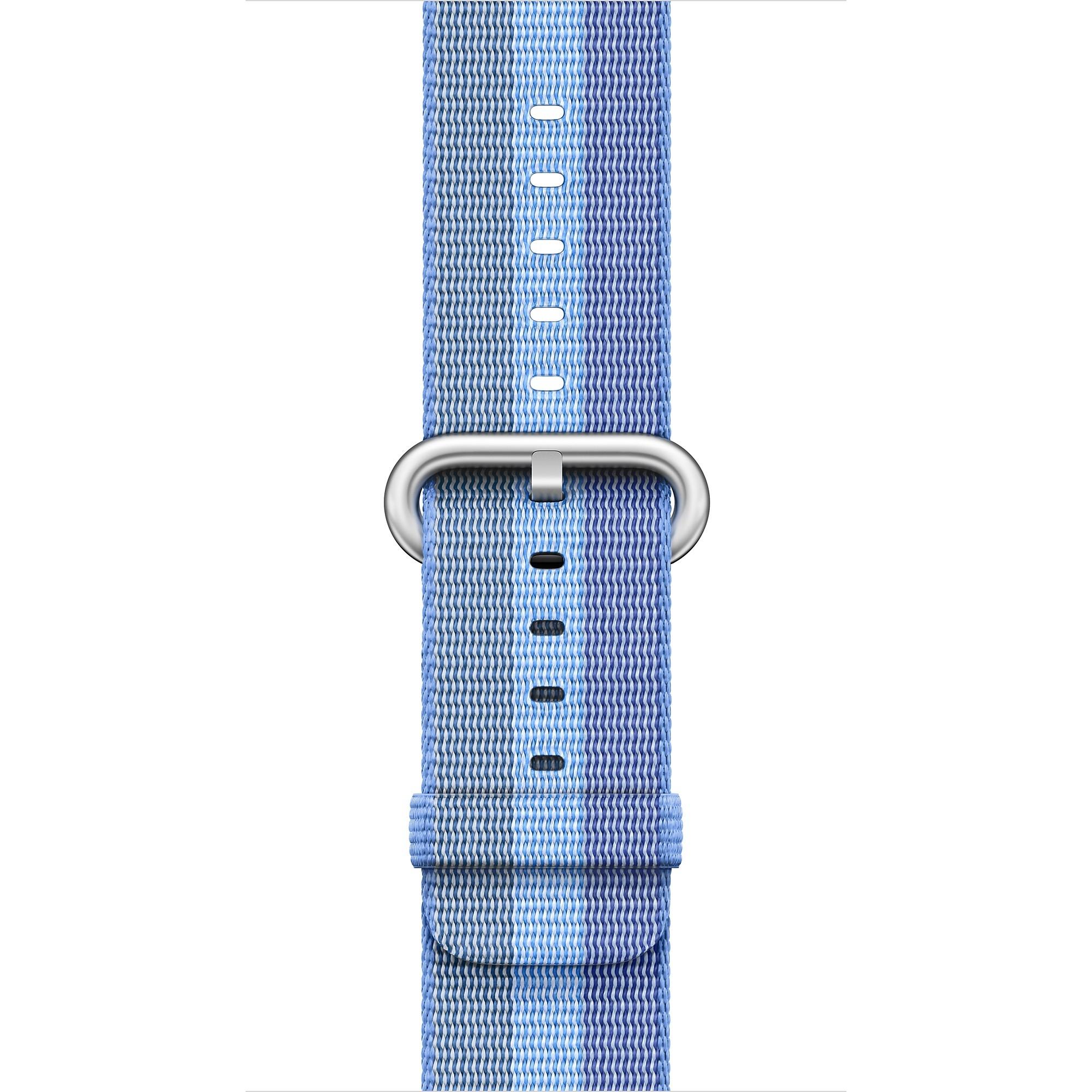 Apple - 42mm azurový řemínek z tkaného nylonu