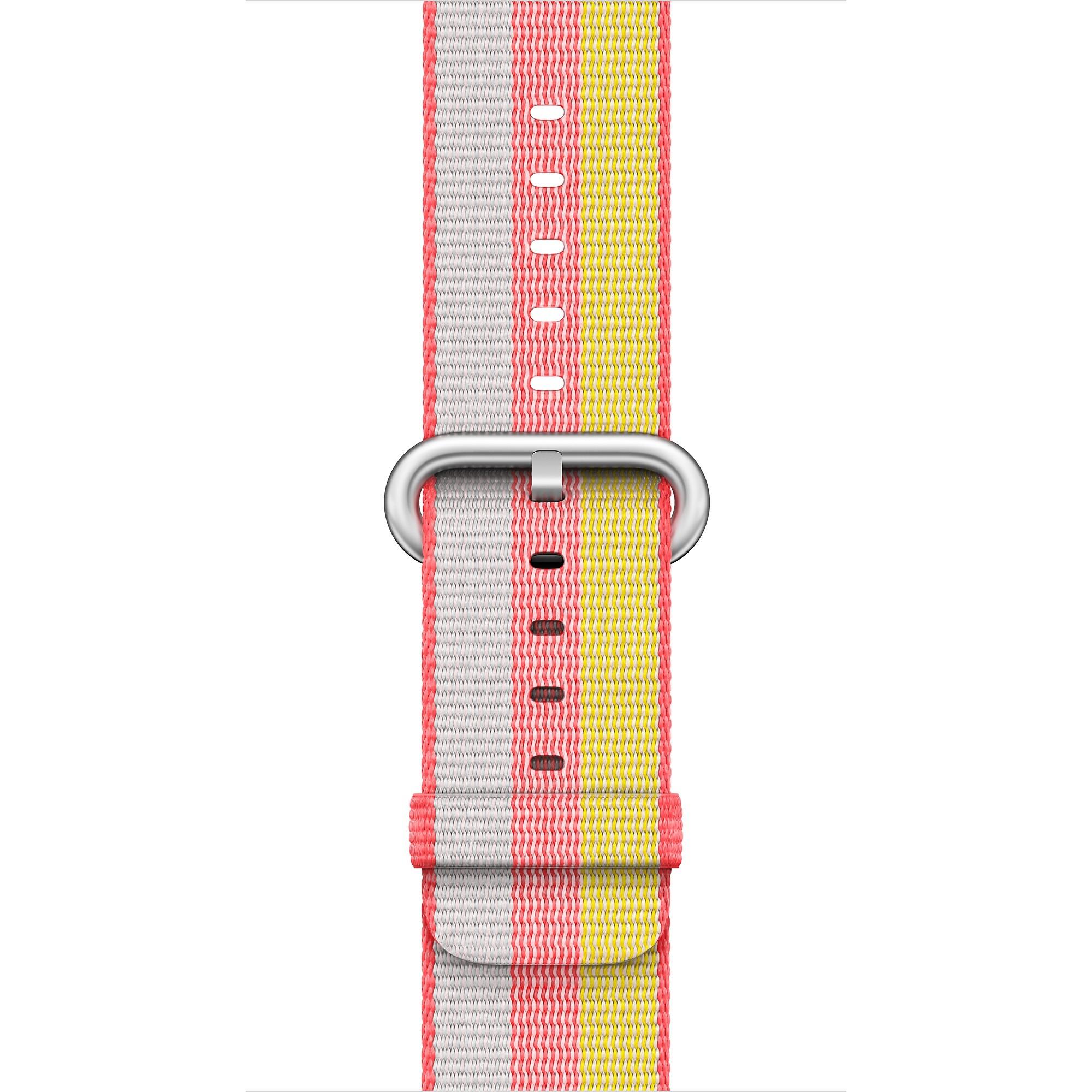 Apple - 42mm červený řemínek z tkaného nylonu