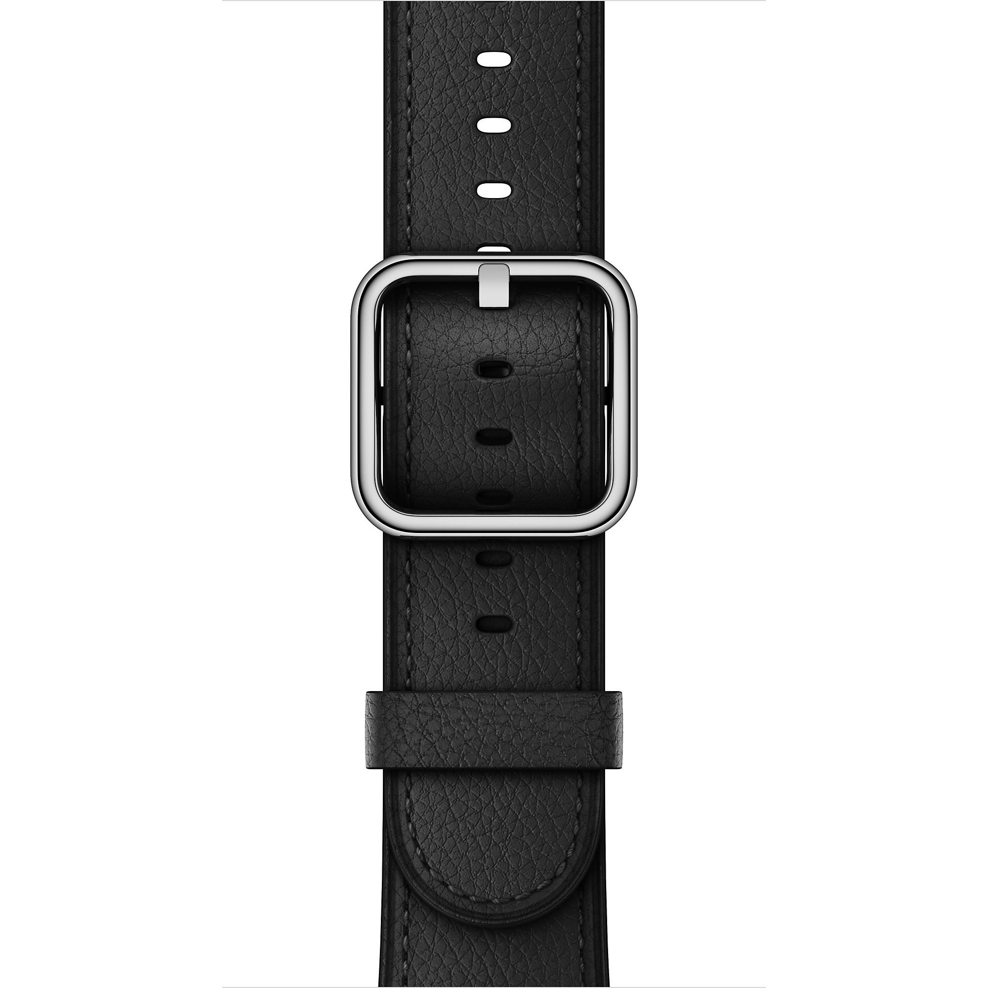 Apple - 42mm černý řemínek s klasickou přezkou
