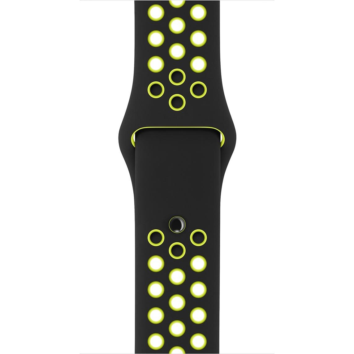 Apple - 38mm černý/Volt sportovní řemínek Nike - S/M a M/L