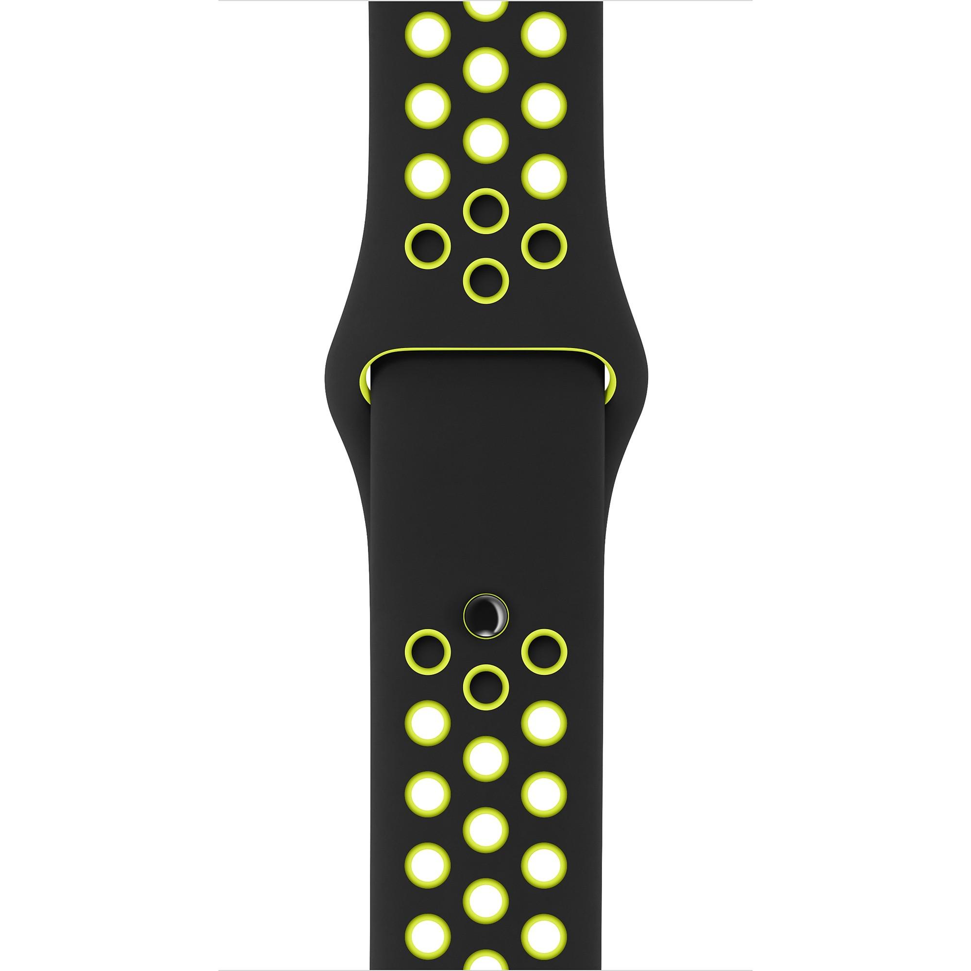 Apple - 42mm černý/Volt sportovní řemínek Nike - S/M a M/L