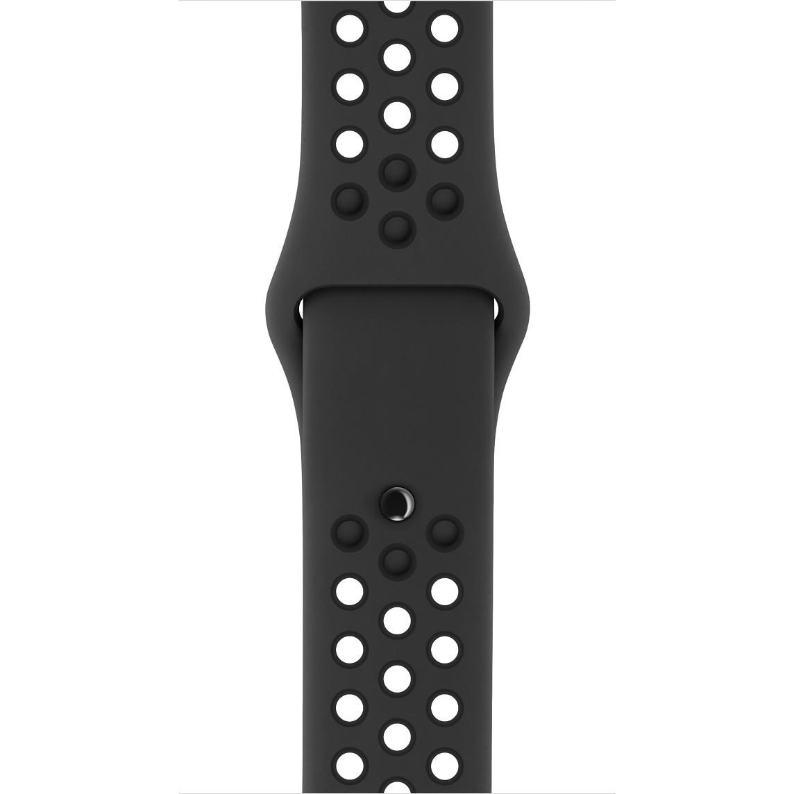 Apple - 42mm antracitový/černý sportovní řemínek Nike - S/M a M/L