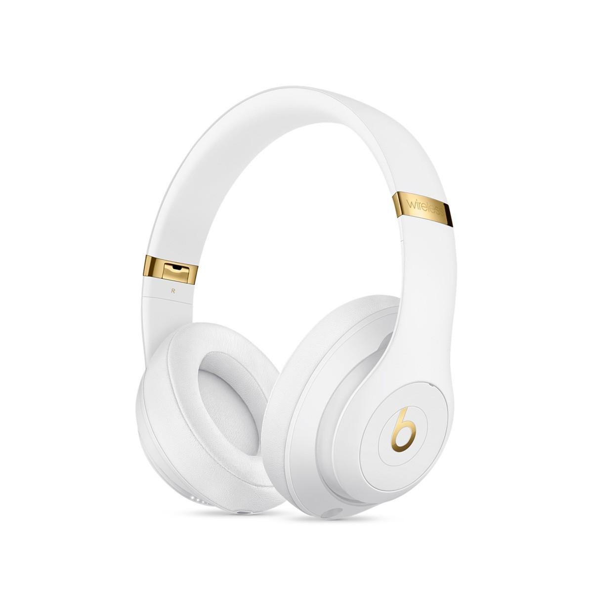 Sluchátka Beats Studio3 Wireless na uši – bílá