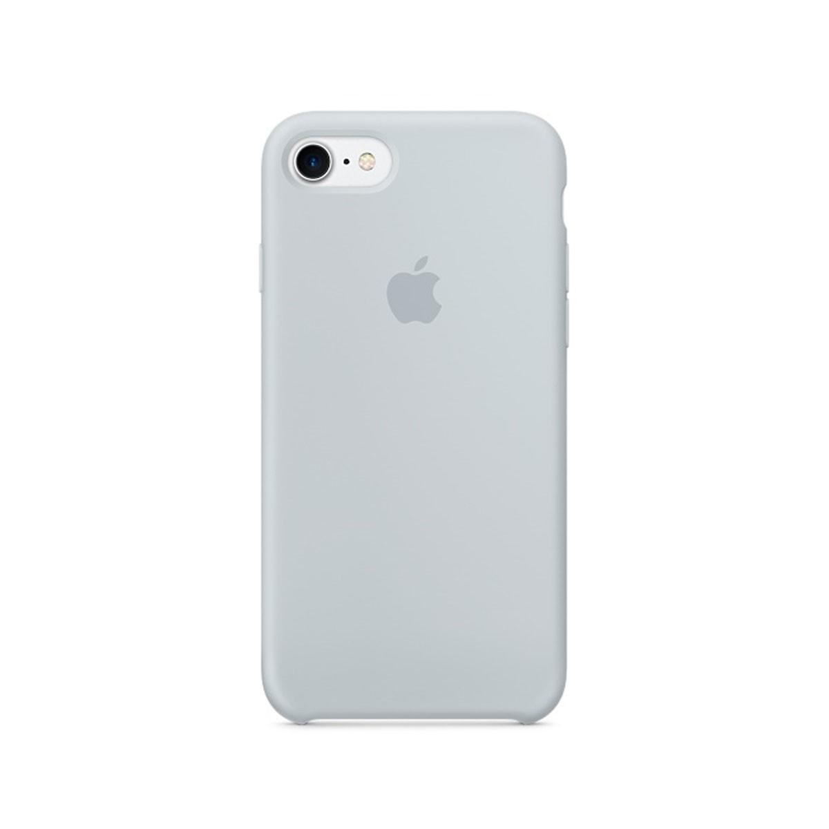 Silikonový kryt na iPhone 7 – mlhově modrý
