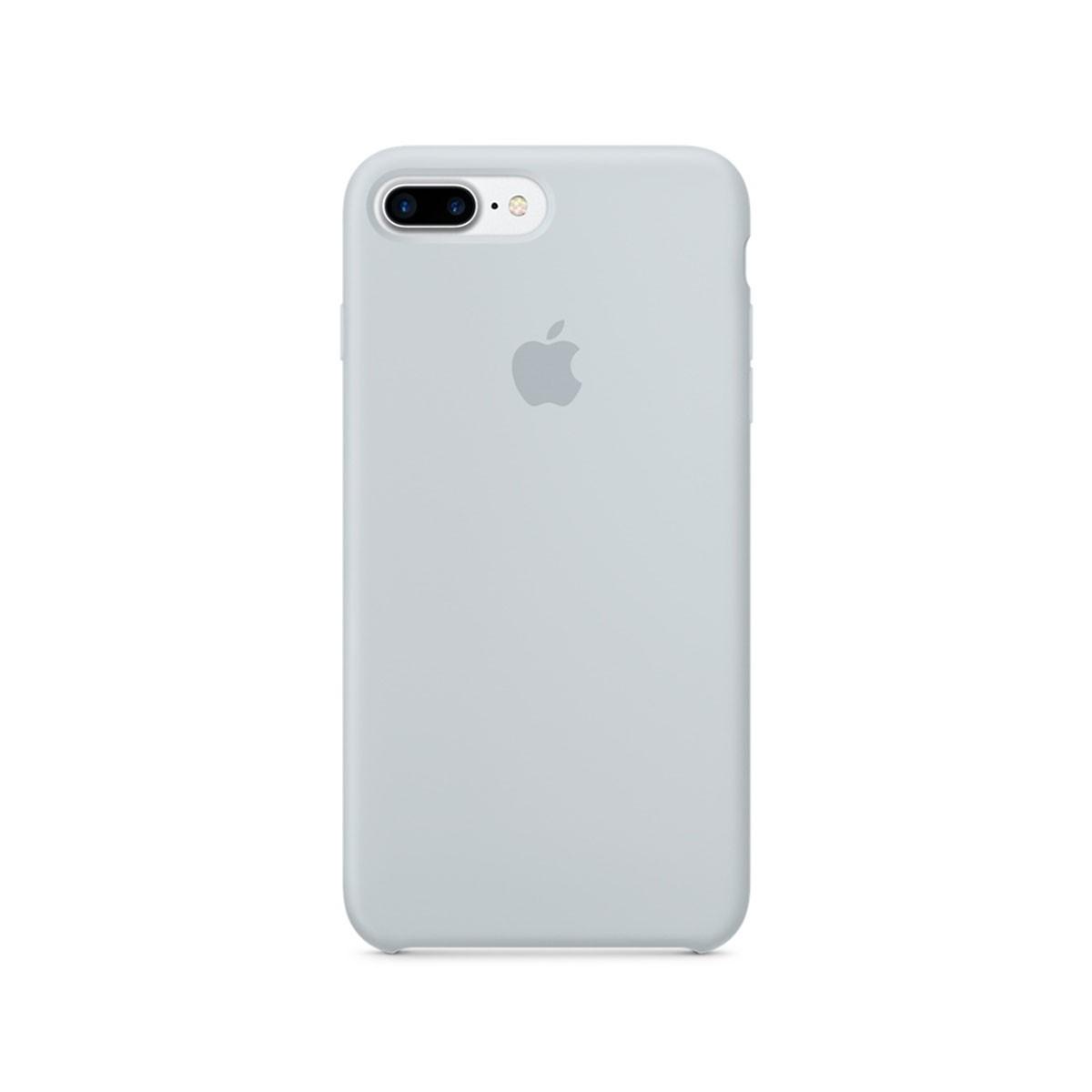 Silikonový kryt na iPhone 7 Plus – mlhově modrý
