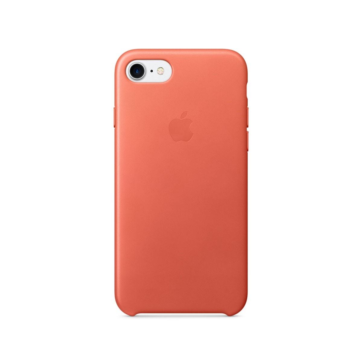 Kožený kryt na iPhone 7 – muškátový