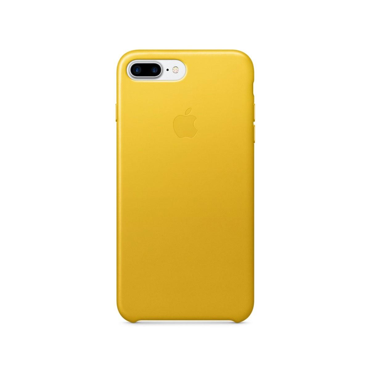 Kožený kryt na iPhone 7 Plus – slunečnicový