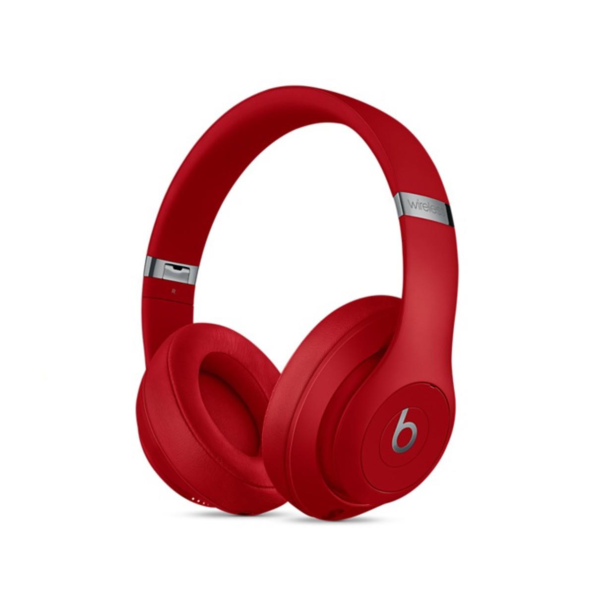 Sluchátka Beats Studio3 Wireless na uši – červená
