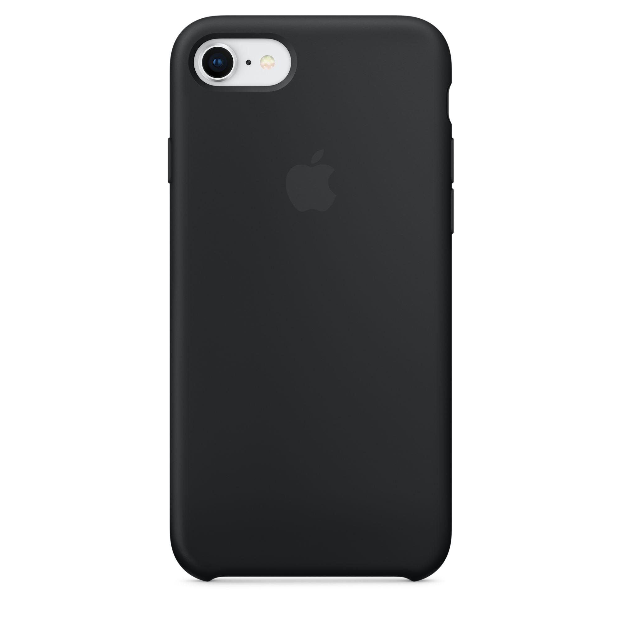 Apple silikonový kryt na iPhone 8 / 7 – černý