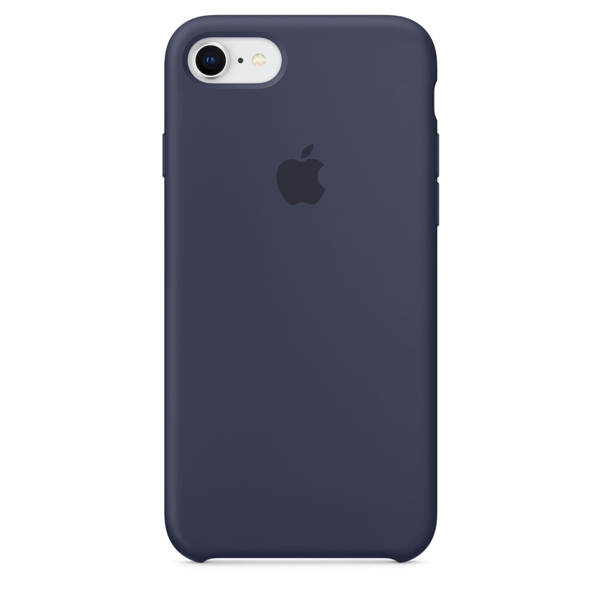 Apple silikonový kryt na iPhone 8 / 7 – půlnočně modrý