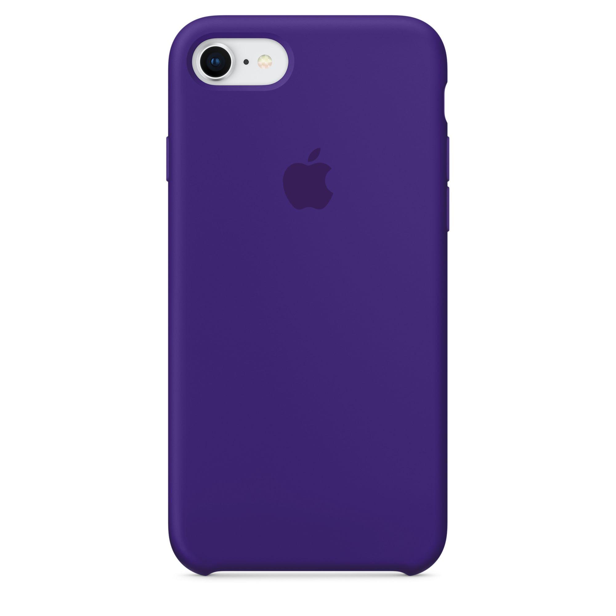 Apple silikonový kryt na iPhone 8 / 7 – tmavě fialový