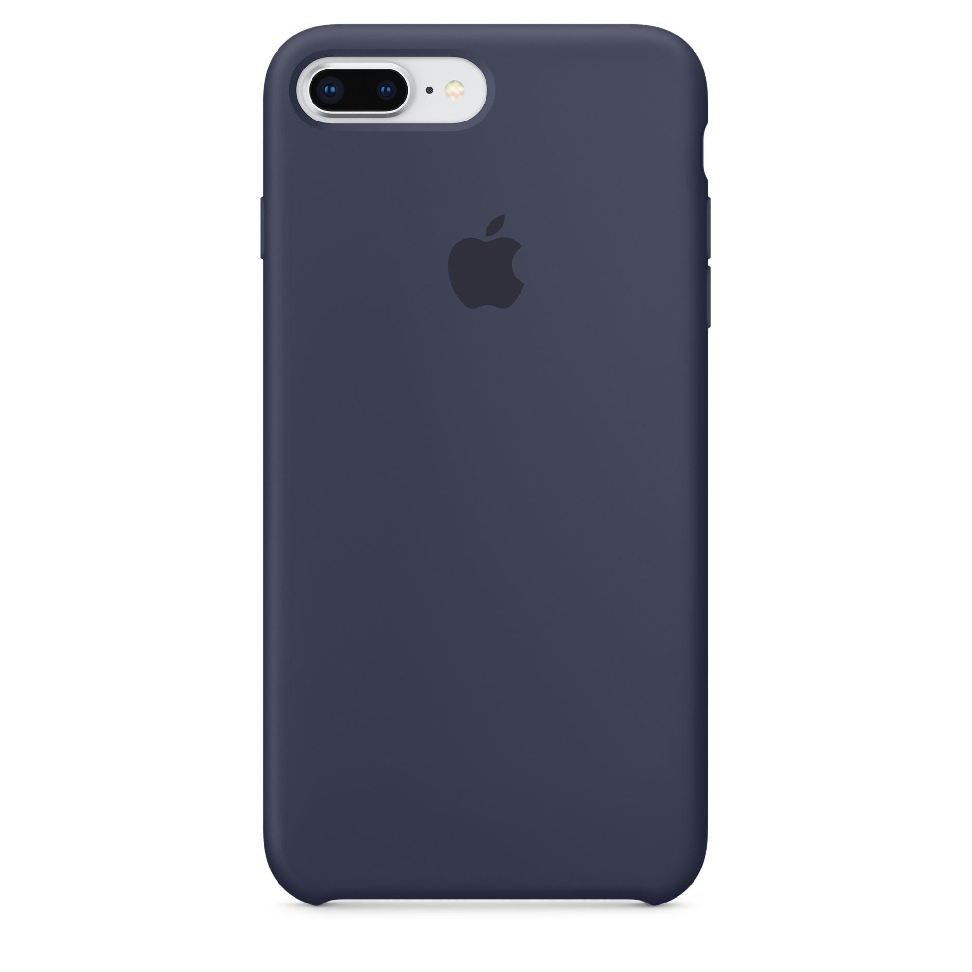 Apple silikonový kryt na iPhone 8 Plus / 7 Plus – půlnočně modrý