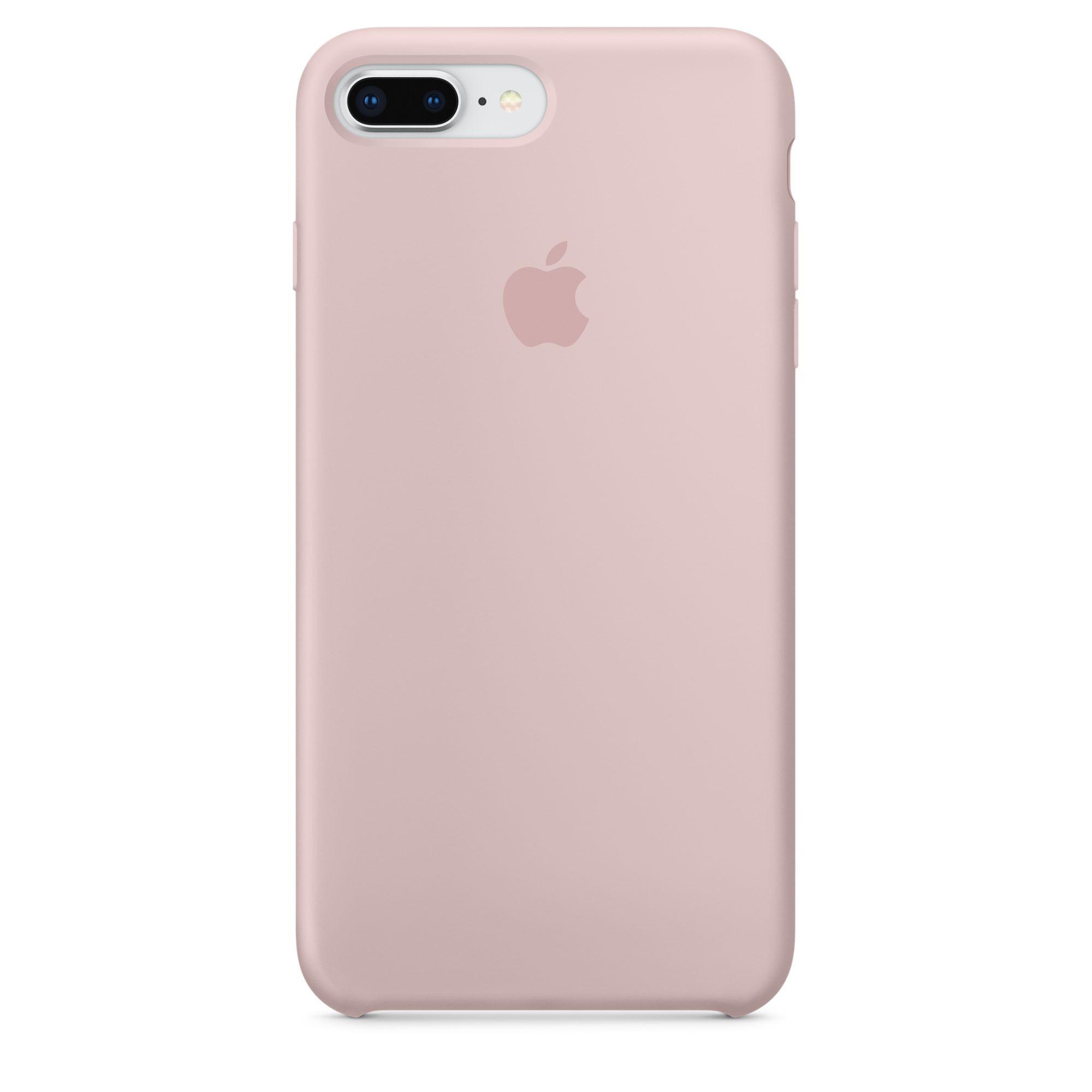 Apple silikonový kryt na iPhone 8 Plus / 7 Plus – pískově růžový