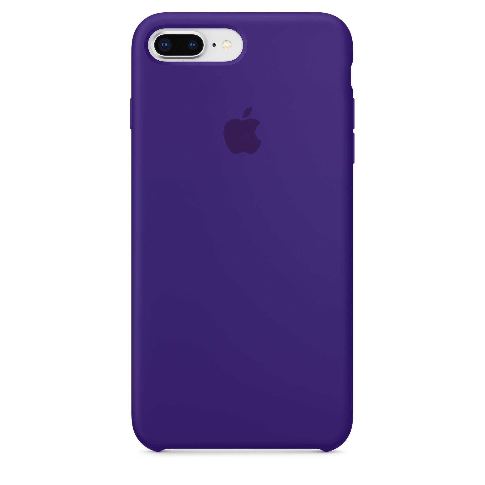 Apple silikonový kryt na iPhone 8 Plus / 7 Plus – tmavě fialový