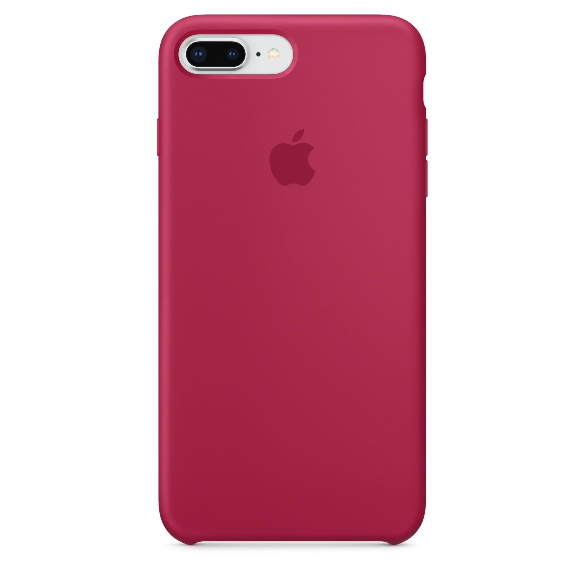 Apple silikonový kryt na iPhone 8 Plus / 7 Plus – vínový