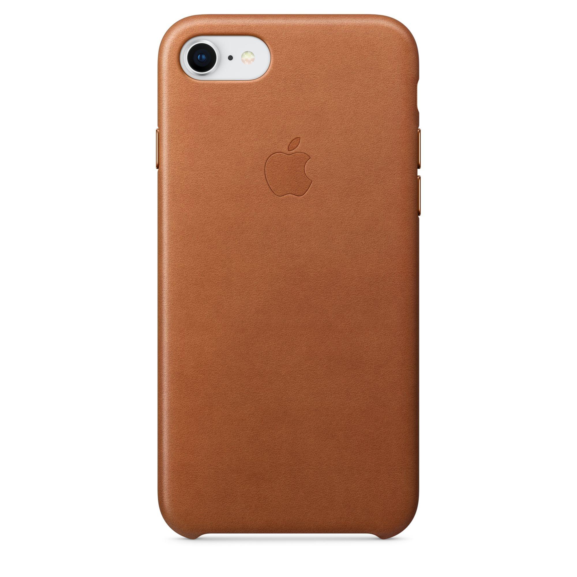 Apple kožený kryt na iPhone 8 / 7 – sedlově hnědý