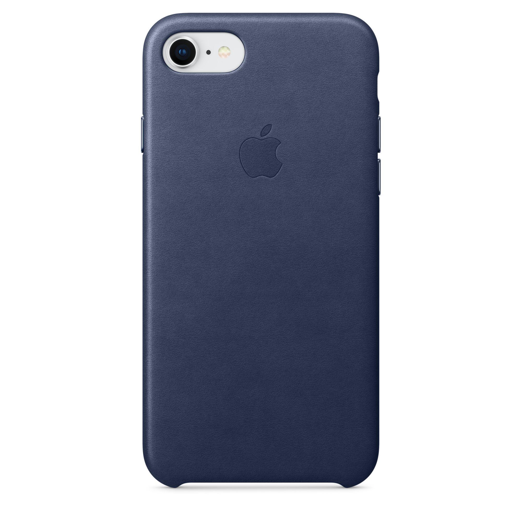 Apple kožený kryt na iPhone 8 / 7 – půlnočně modrý